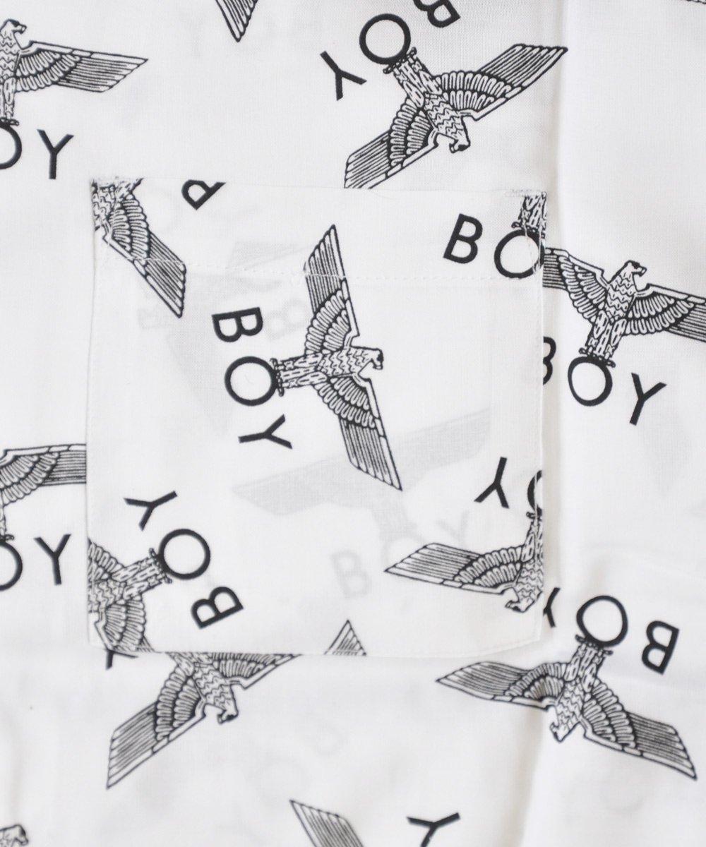 BOY REPEAT SHIRT / ホワイト×ブラック [BRSTW001]
