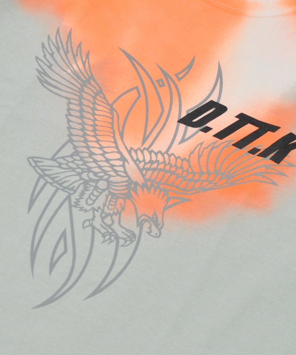NEON EAGLE TEE / グリーン×オレンジ [TT19SS-TEE005]