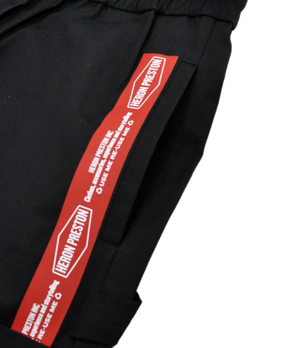 ELASTIC CARGO SHORTS RED T / ブラック×レッド [HMCB003S197470221020]