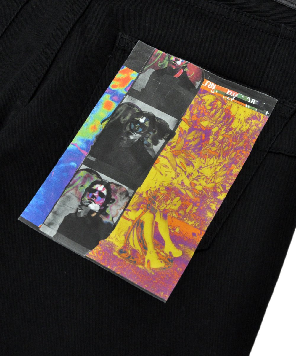 KNEE DAMAGED SUPER SKINNY SIGNATURE TROUSERS / ブラック [CDM-19W-0616A]