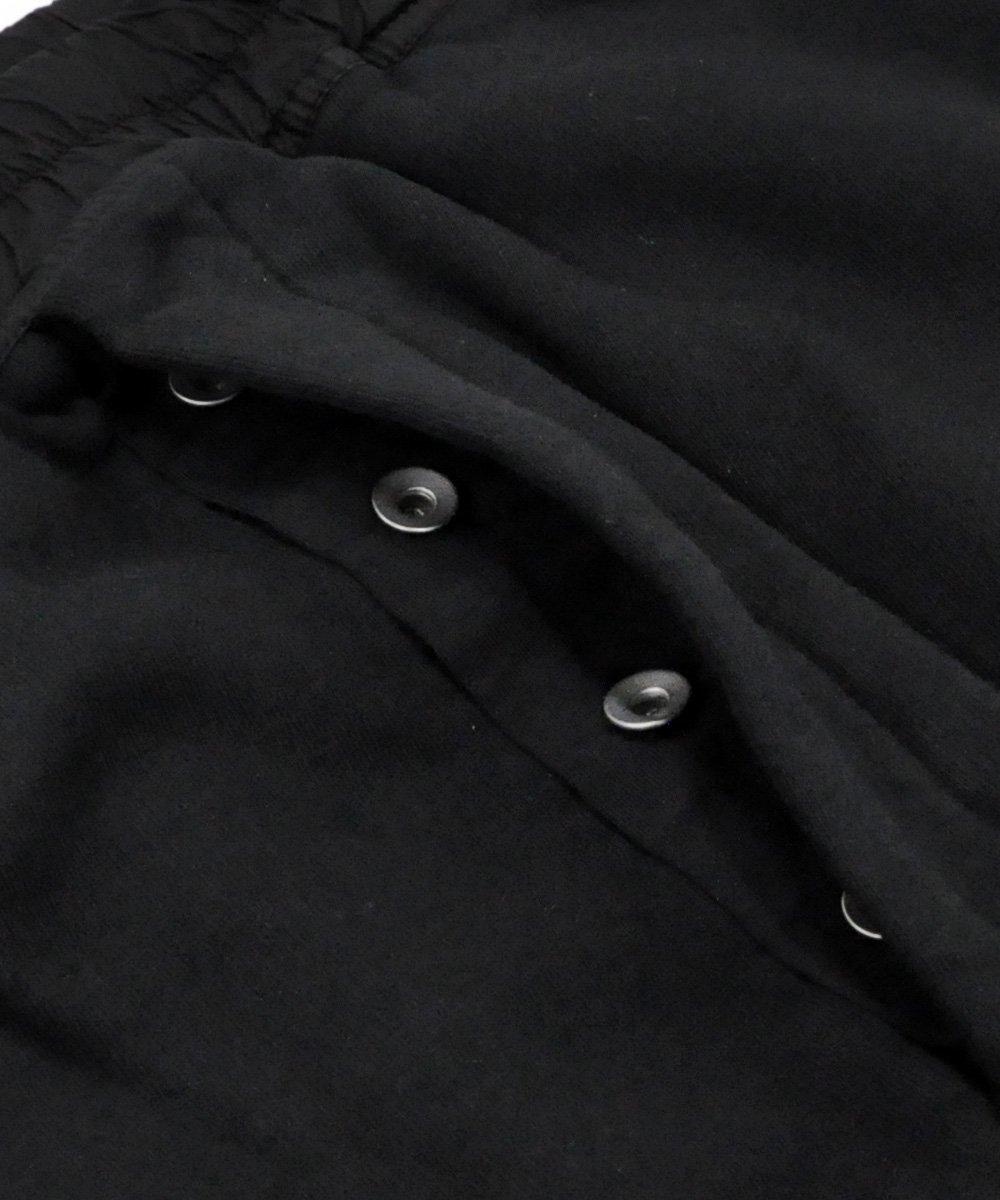 WOVEN SWEAT PANTS - PRISONER DRAWSTRING / ブラック [DU19F6394 F]