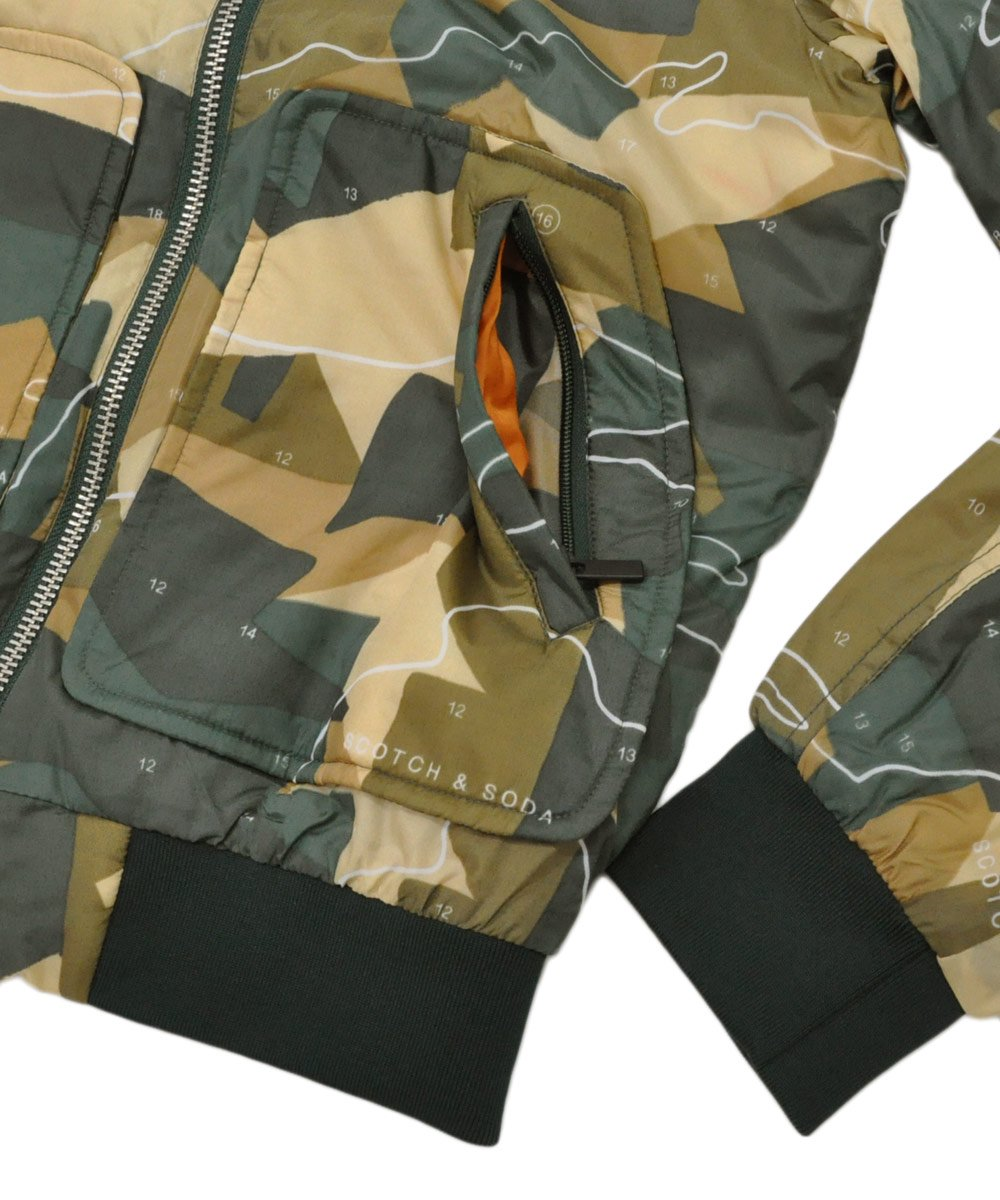 Hooded Bomber Jacket / カモ [282-81801]