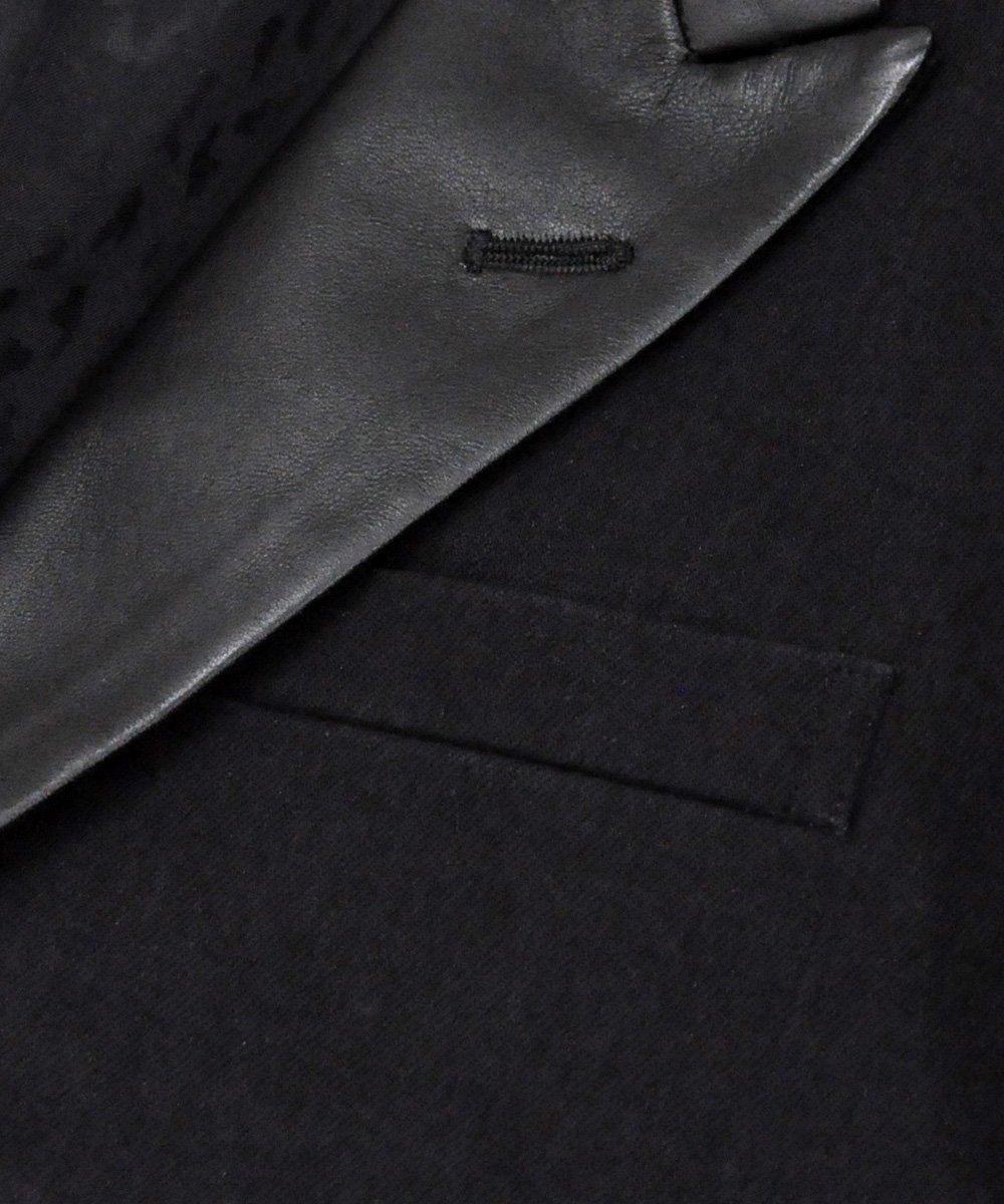 BLACK DENIM LEATHER TUXEDO JKT / ブラック(BLK) [1909-8001]