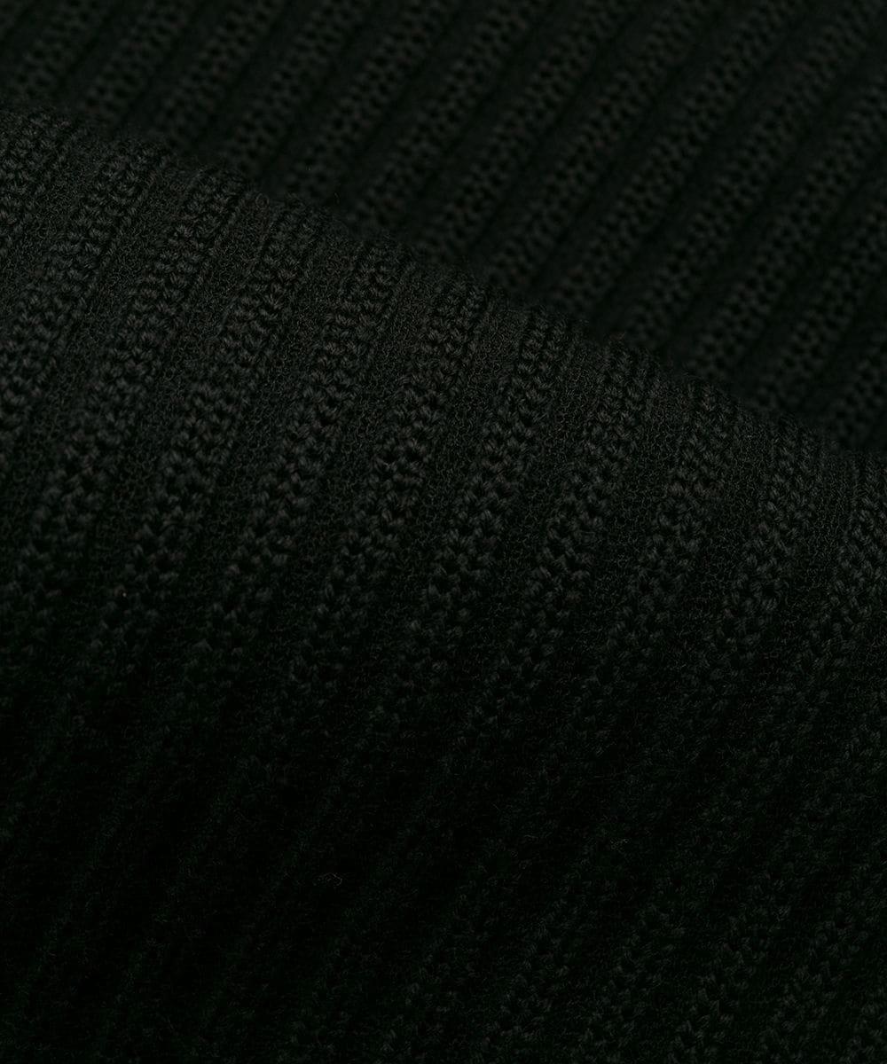 U TECH KNIT HOODIE / ブラック [FJ0324]