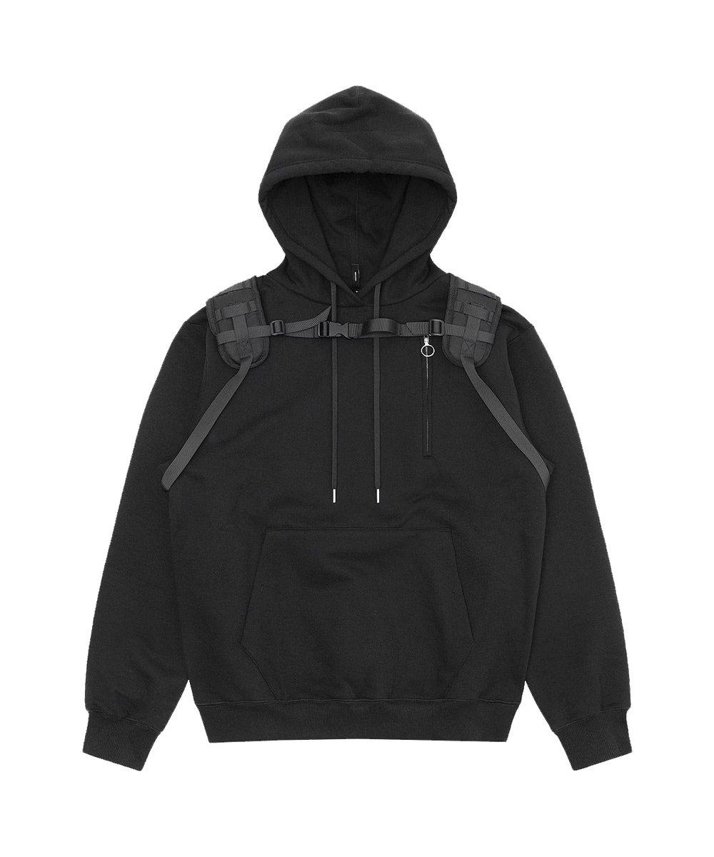 UTILITY HOODIE / ブラック [SLA-M2084HD]