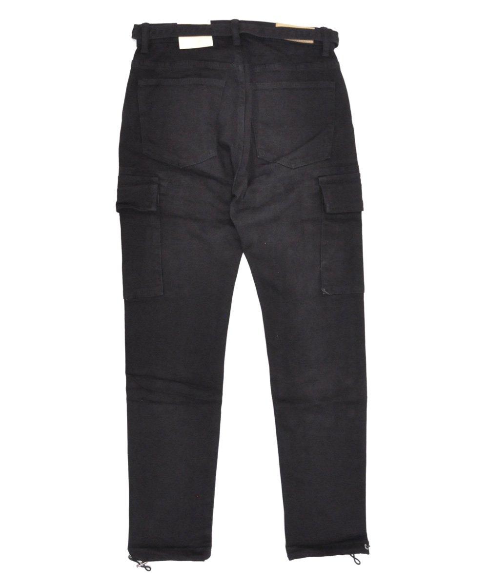 DENIM CARGO PANTS / ブラック