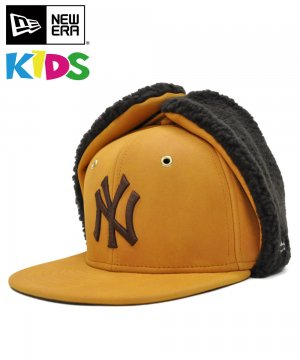 <img class='new_mark_img1' src='https://img.shop-pro.jp/img/new/icons61.gif' style='border:none;display:inline;margin:0px;padding:0px;width:auto;' />Kid's 59FIFTY Dog Ear シンセティック ヌバック ニューヨーク・ヤンキース / イエローヌバック × ブラウン [12108594]