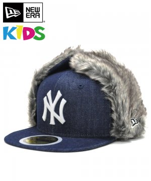 <img class='new_mark_img1' src='https://img.shop-pro.jp/img/new/icons61.gif' style='border:none;display:inline;margin:0px;padding:0px;width:auto;' />Kid's 59FIFTY Dog Ear ニューヨーク・ヤンキース / インディゴデニム × スノーホワイト [12108595]