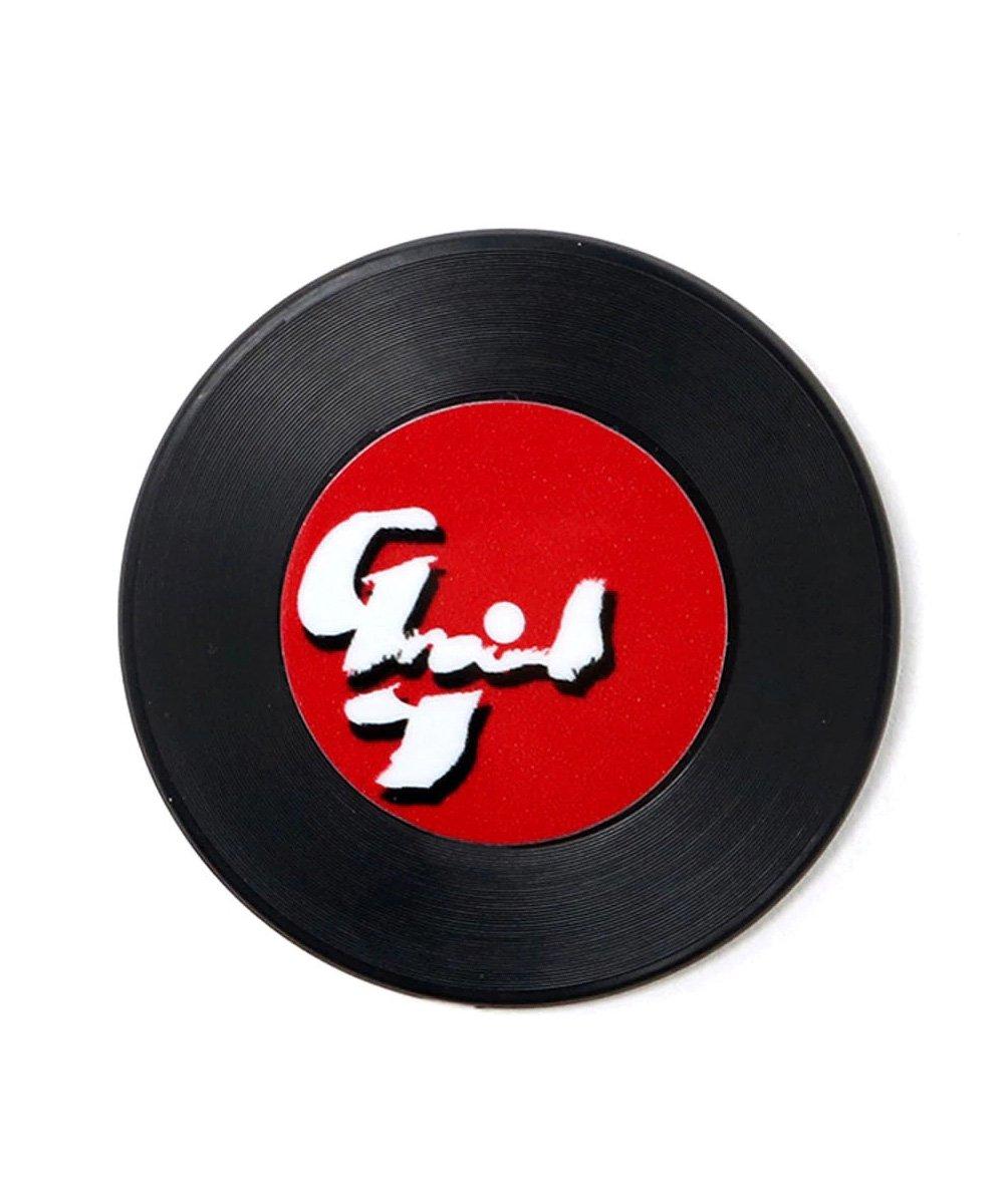 4P RECORD BADGE / ブラック [GA-A02-951-1-02]