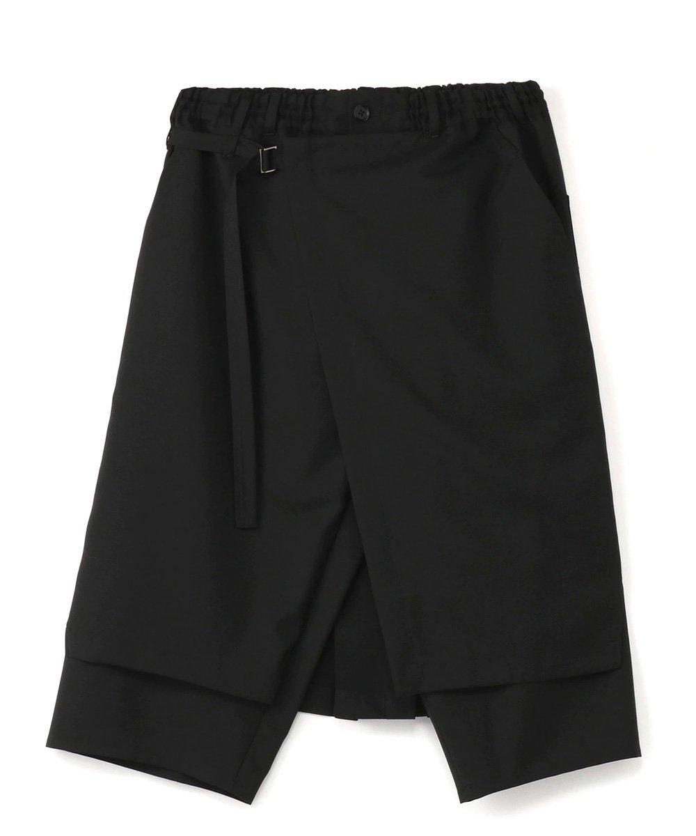 WRAP PANTS TYPE.1 / ブラック [GA-P01-100-1-03]