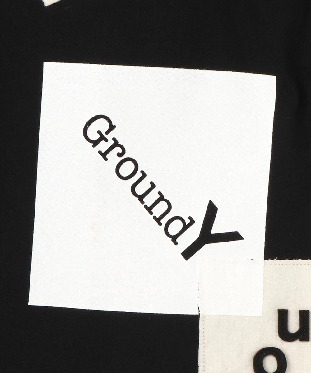 PATCHWORK CUT A S/S TEE / ブラック [GA-T69-076-2-04]
