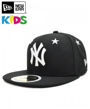 <img class='new_mark_img1' src='https://img.shop-pro.jp/img/new/icons61.gif' style='border:none;display:inline;margin:0px;padding:0px;width:auto;' />Kid's 59FIFTY Star Eyelets ニューヨーク・ヤンキース / ブラック × ホワイト [12362196]