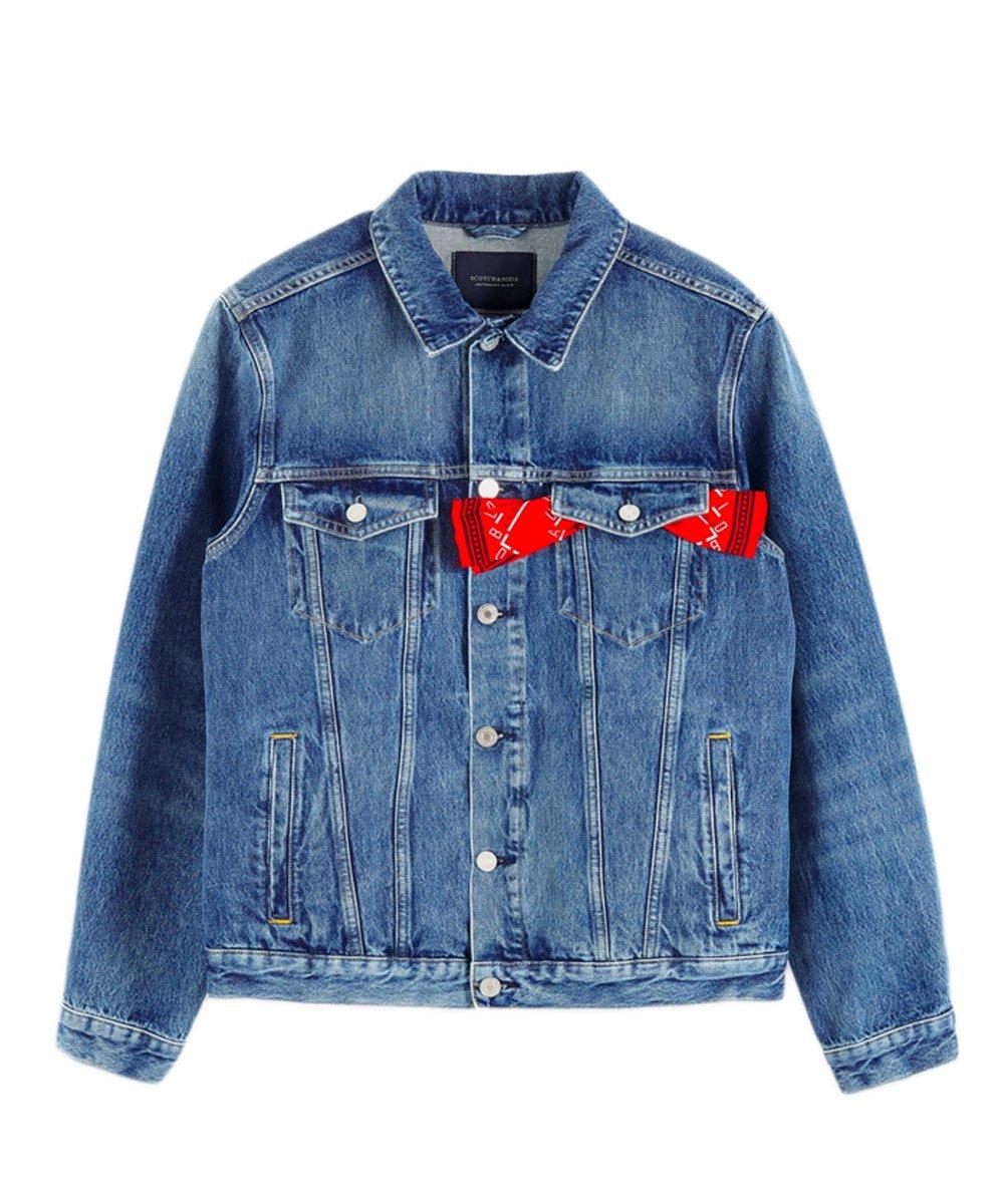 Denim Trucker Jacket - Blauw Cure / ウォッシュドデニム [282-11819]