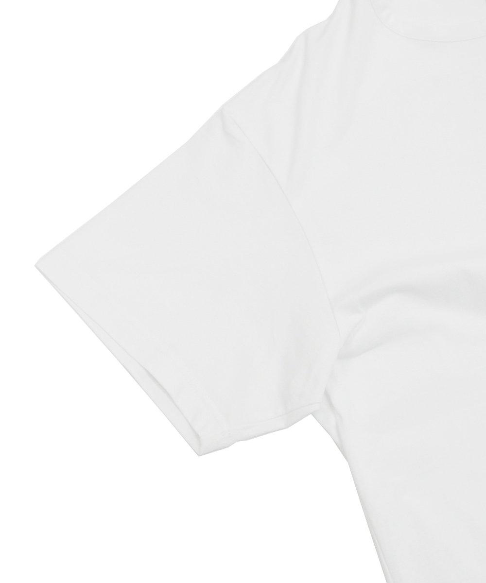 BACK SLIT S/S TEE / ホワイト [GN-T12-040-1-03]