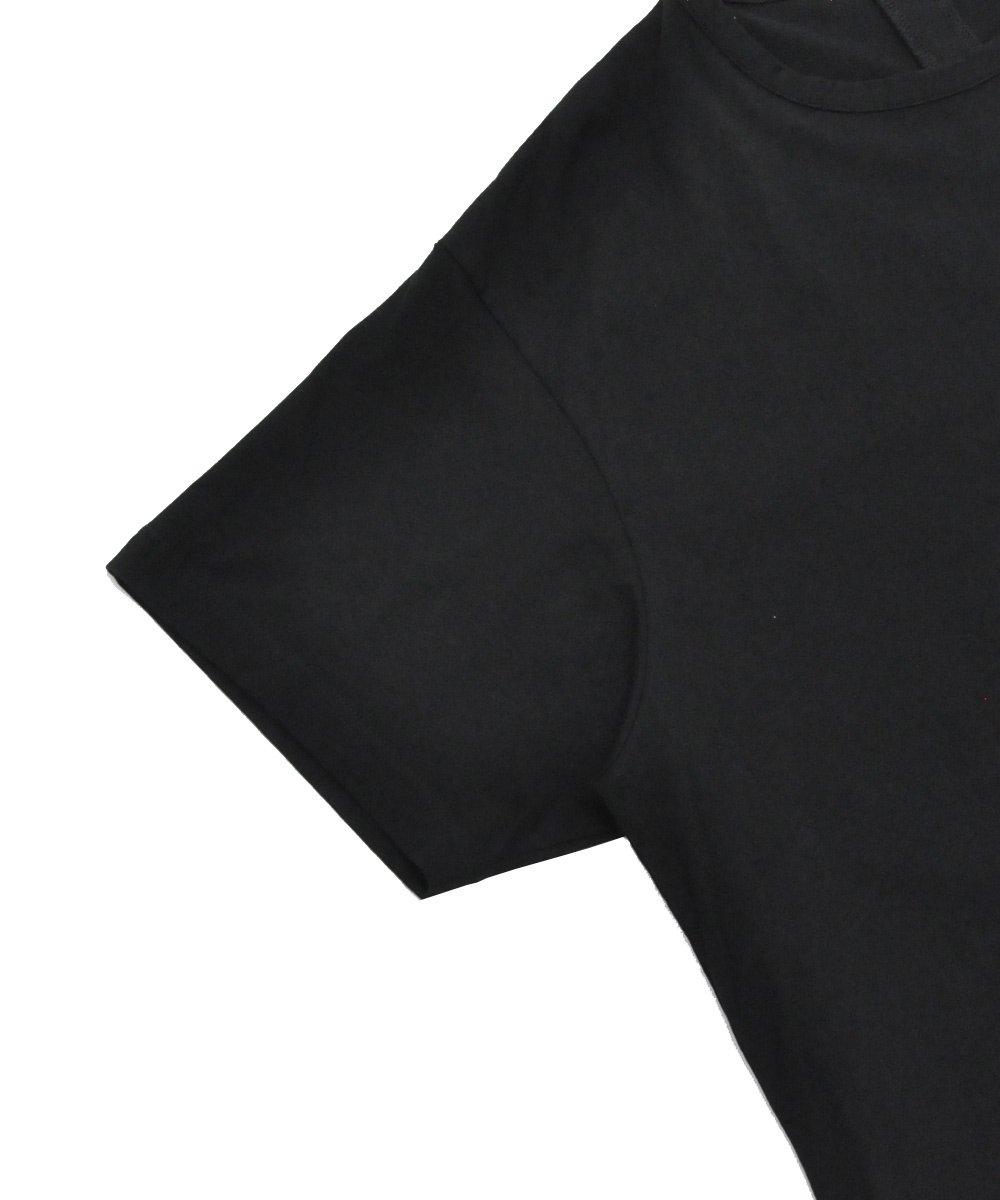 BACK SLIT S/S TEE / ブラック [GN-T12-040-2-03]