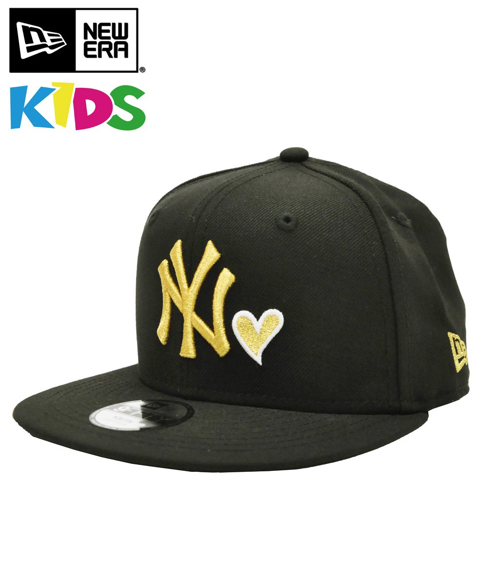 [OUTLET] Kid's YOUTH 9FIFTY ニューヨーク・ヤンキース ハート / ブラック × ゴールド [11327275]