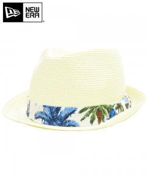<img class='new_mark_img1' src='https://img.shop-pro.jp/img/new/icons61.gif' style='border:none;display:inline;margin:0px;padding:0px;width:auto;' />[OUTLET] EK by NEW ERA the TRILBY NATURAL PAPER ROPE ホワイトパームツリーバンド / ナチュラル [11225673]