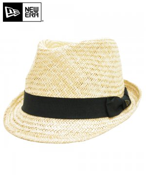<img class='new_mark_img1' src='https://img.shop-pro.jp/img/new/icons61.gif' style='border:none;display:inline;margin:0px;padding:0px;width:auto;' />[OUTLET] EK by NEW ERA the TRILBY PALM STRAW HAT ブラックバンド / ナチュラル [11099425]