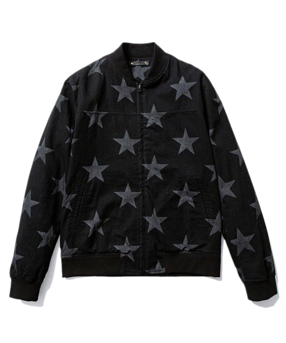 DISCHARGE STAR RIB ZIP BZ / ブラック(BLT) [2003-8003]