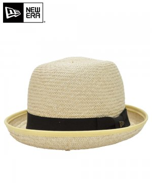 <img class='new_mark_img1' src='https://img.shop-pro.jp/img/new/icons61.gif' style='border:none;display:inline;margin:0px;padding:0px;width:auto;' />[OUTLET] EK by NEW ERA BOWLER PALM STRAW HAT ブラックバンド / ナチュラル [11099921]