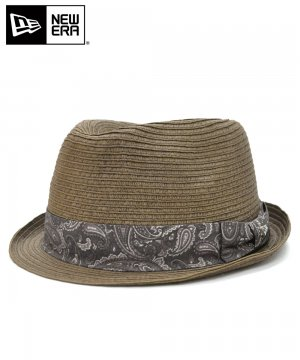 <img class='new_mark_img1' src='https://img.shop-pro.jp/img/new/icons61.gif' style='border:none;display:inline;margin:0px;padding:0px;width:auto;' />[OUTLET] EK by NEW ERA the TRILBY NATURAL PAPER ROPE ブラウンペイズリーバンド / ブラウン [E0000389]