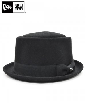 <img class='new_mark_img1' src='https://img.shop-pro.jp/img/new/icons61.gif' style='border:none;display:inline;margin:0px;padding:0px;width:auto;' />[OUTLET] EK by NEW ERA PORKPIE WOOL ブラック / ブラックバンド [E0000491]