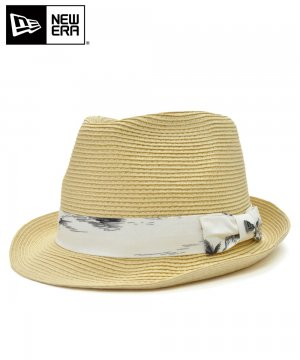 <img class='new_mark_img1' src='https://img.shop-pro.jp/img/new/icons61.gif' style='border:none;display:inline;margin:0px;padding:0px;width:auto;' />[OUTLET] EK by NEW ERA the TRILBY PALM STRAW HAT ホワイトアロハバンド / ナチュラル [11556919]