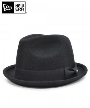 <img class='new_mark_img1' src='https://img.shop-pro.jp/img/new/icons61.gif' style='border:none;display:inline;margin:0px;padding:0px;width:auto;' />[OUTLET] EK by NEW ERA FEDORA WOOL ブラック / ブラックバンド [E0000471]