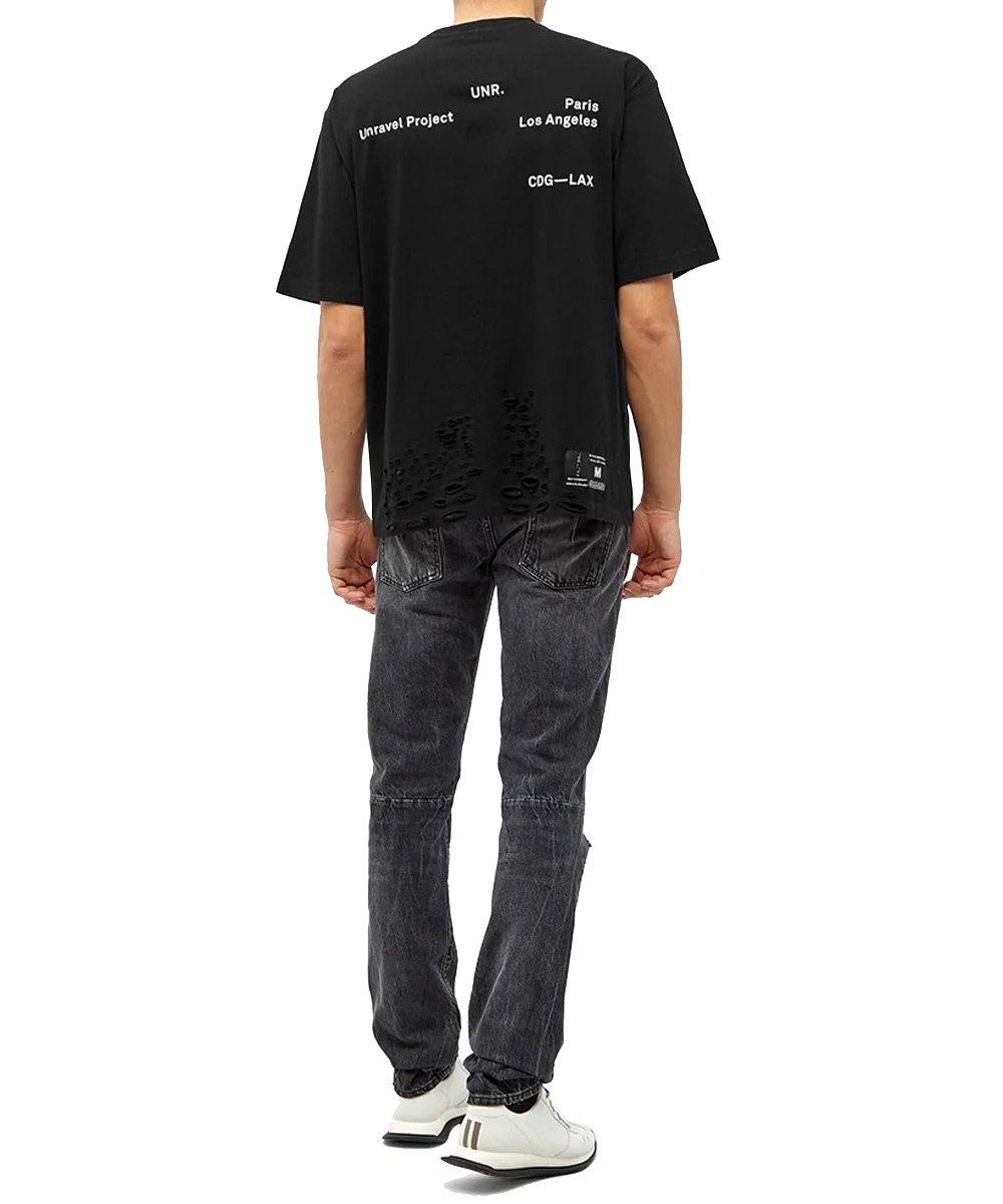 LAX DISTRESSED SKATE T-SHIRT / ブラック [UMAA004S20JER0051001]