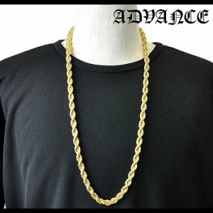 GOLD ROPE CHAIN NECKLACE / ゴールド [ARG-8703-A]