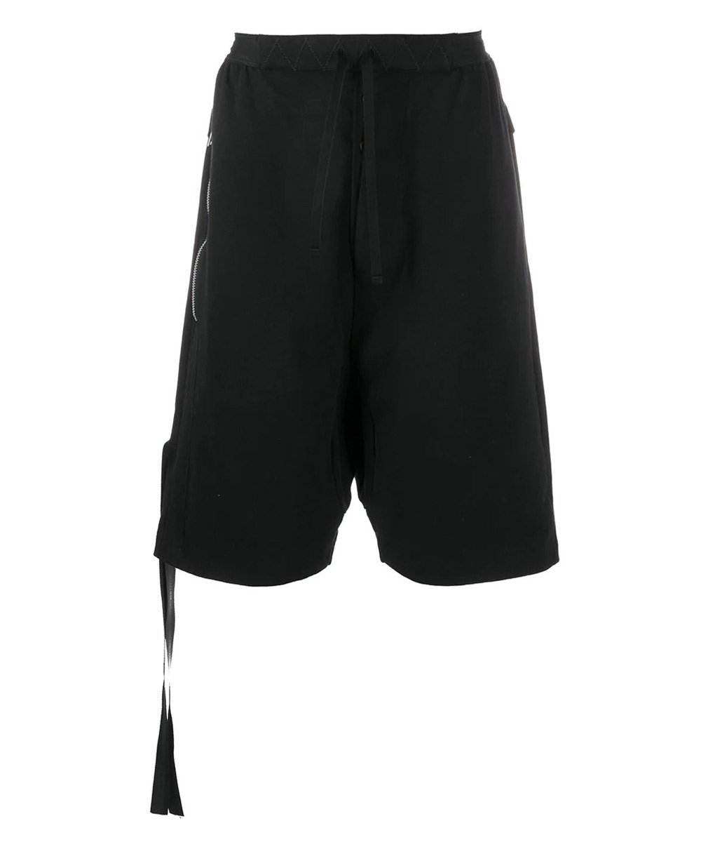 COTTON DROP CROTCH SWEATSHORTS / ブラック [UMCI002S20FAB0021000]
