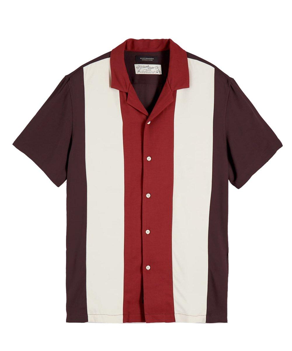 Color Block Shirt Hawaii fit / マルチ [292-12419]