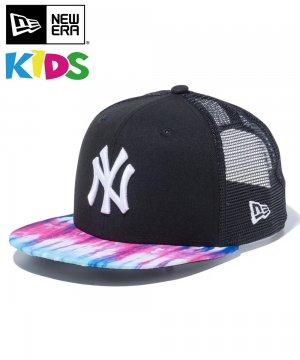 <img class='new_mark_img1' src='https://img.shop-pro.jp/img/new/icons61.gif' style='border:none;display:inline;margin:0px;padding:0px;width:auto;' />Kid's Youth 9FIFTY カラータイダイ New Era ニューヨーク・ヤンキース / ブラック タイダイバイザー [12325527]