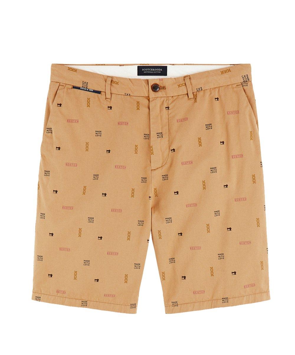 Printed Chino Shorts / ベージュ [292-12506]