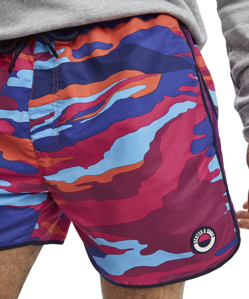 Colorful Printed Swim Shorts / マルチカモ [292-18602]