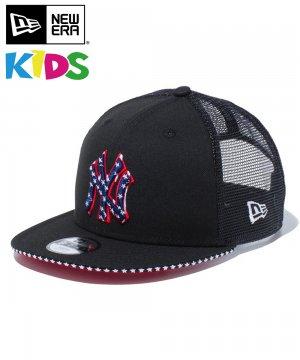 Kid's Youth 9FIFTY トラッカー スター ニューヨーク・ヤンキース / サンドイッチバイザー スカーレットアンダーバイザー [12325515]