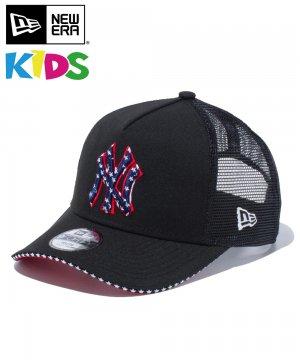 Kid's Youth 9FORTY A-Frame トラッカー スター ニューヨーク・ヤンキース / サンドイッチバイザー スカーレットアンダーバイザー [12325512]