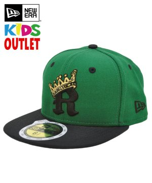 <img class='new_mark_img1' src='https://img.shop-pro.jp/img/new/icons61.gif' style='border:none;display:inline;margin:0px;padding:0px;width:auto;' />[OUTLET] Kid's Youth 59FIFTY R-CROWN / ケリー × ブラック [11172343]