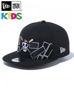 Kid's Youth 9FIFTY ONE PIECE ワンピース ドクロ 海賊旗 ドン!! / ブラック [12540975]