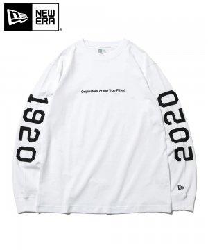 長袖 コットン Tシャツ 1920-2020 Originators of the True Fitted ロゴ / ホワイト レギュラーフィット [12542711]