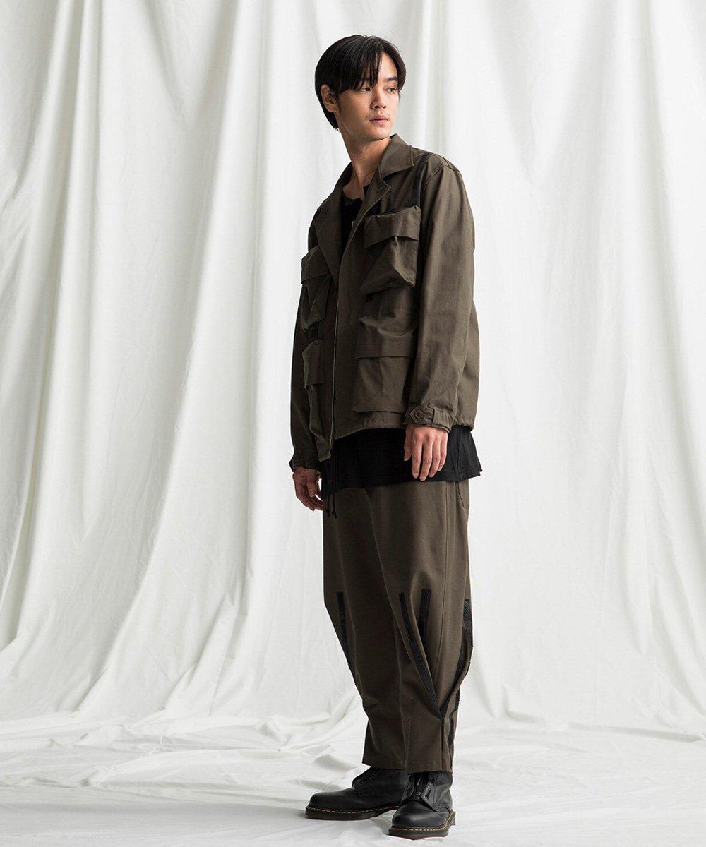 79A Cotton Canvas Open Collar Pocket Blouson / カーキ [GR-J06-006-1-03]