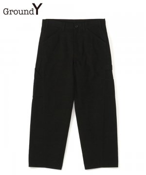 79A Cotton Canvas Slim Painter Pants / ブラック [GR-P05-006-2-03]