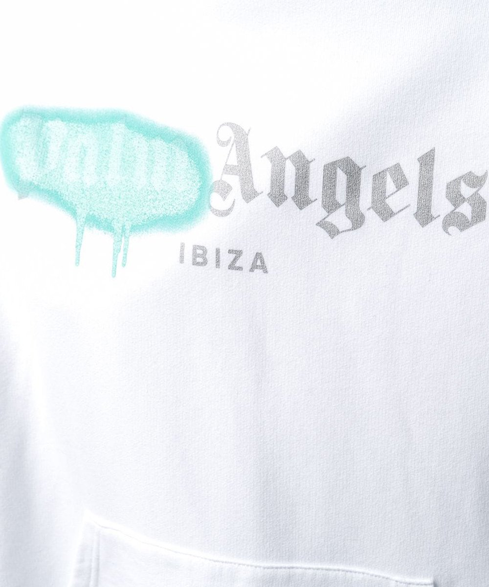 IBIZA SPRAYED HOODY / ホワイト [PMBF20-065]