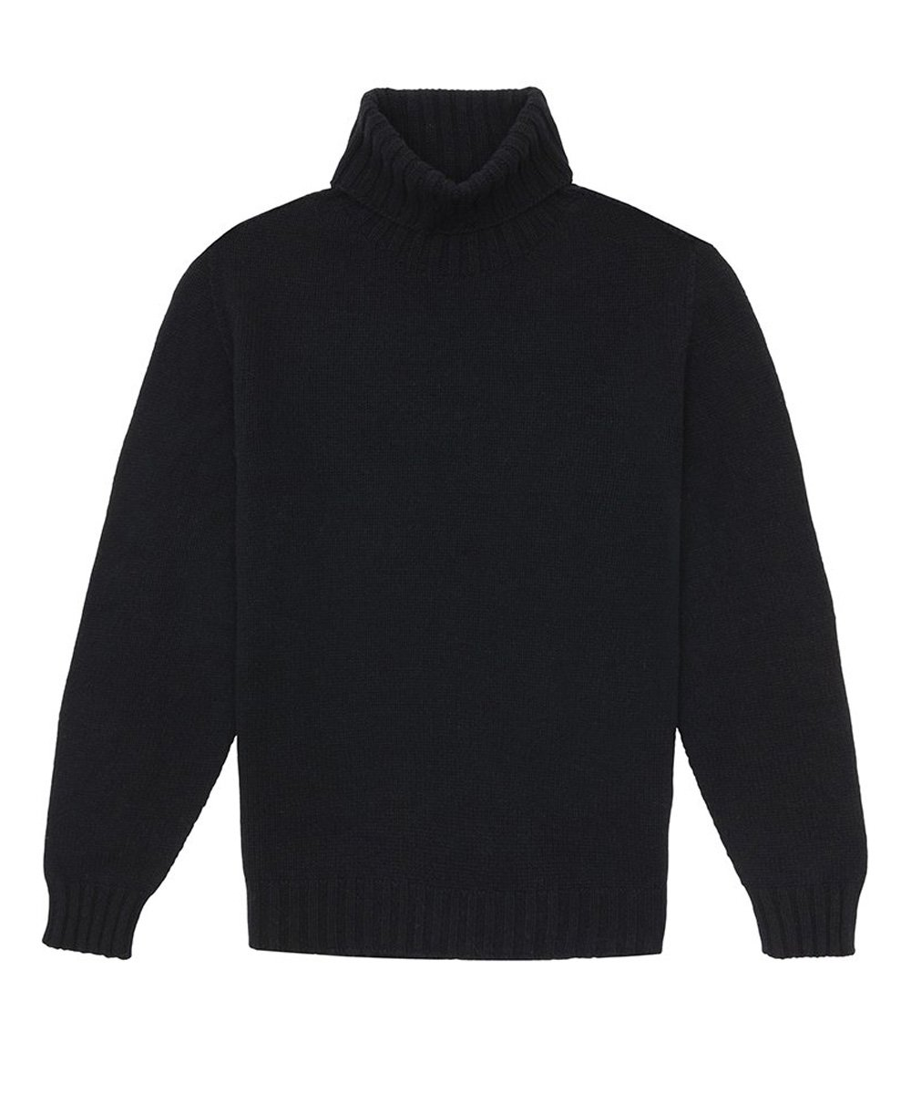 REC LOGO TURTLENECK / ブラック [PMHF20-198]