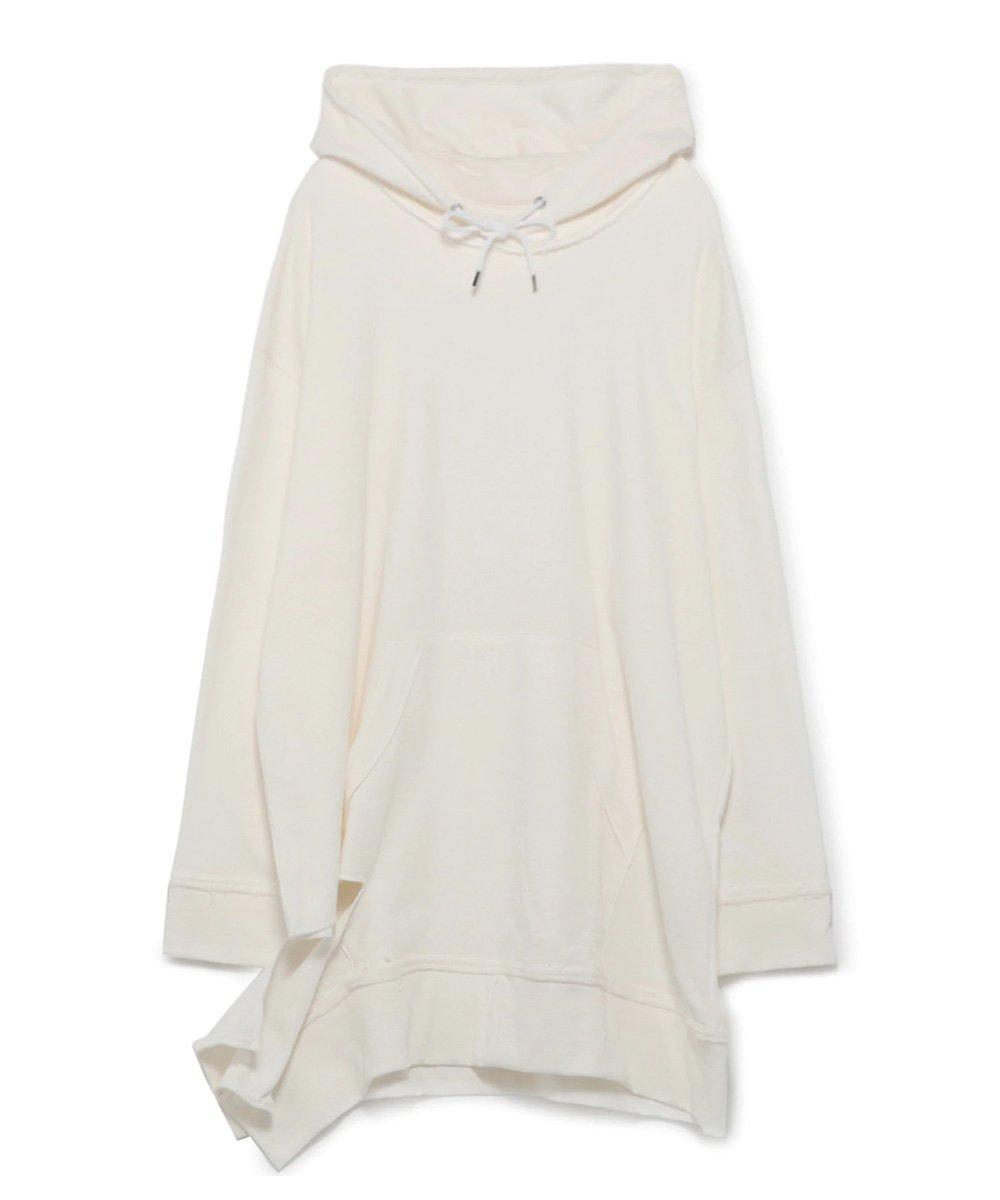 Mini Fleece Pile Right Side Fluttering Hoodie / ホワイト [GR-T07-005-1-03]