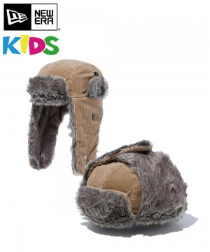 Kid's トラッパー コーデュロイ / ベージュ × スノーホワイト [12541238]