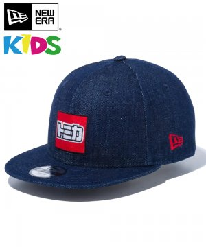 Kid's Youth 9FIFTY TOMICA トミカ ロゴ / デニム × ラディアントレッド [12551599]