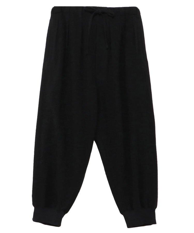 Vintage Flannel Hem Rib Balloon Pants / ブラック [GR-P14-101-2-03]