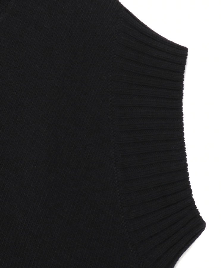 C/Capri Cord Slash Sleeveless Knit / ブラック [GR-K03-014-2-03]