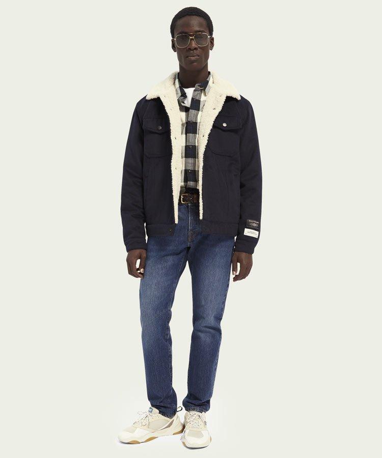 Regular fit classic check shirt 100% cotton / ネイビーチェック [292-21437]